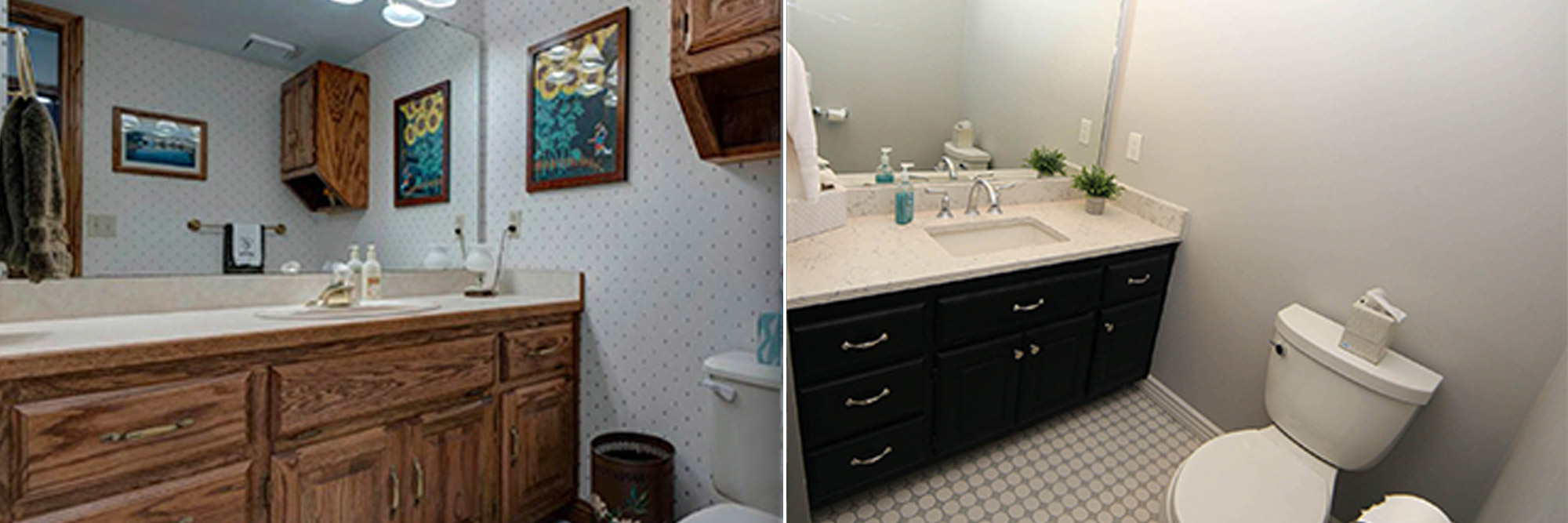 Bath Cabinets - Before & After