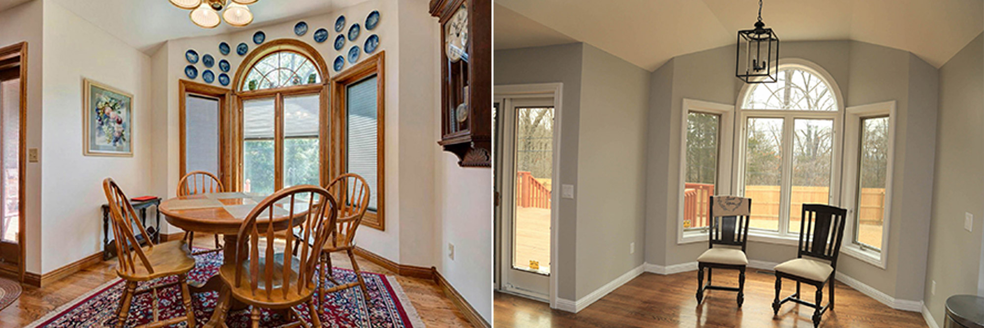 Dining Room - Before & After