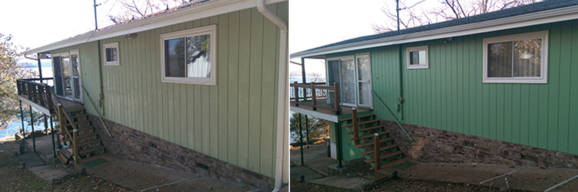 House Exterior - Before & After