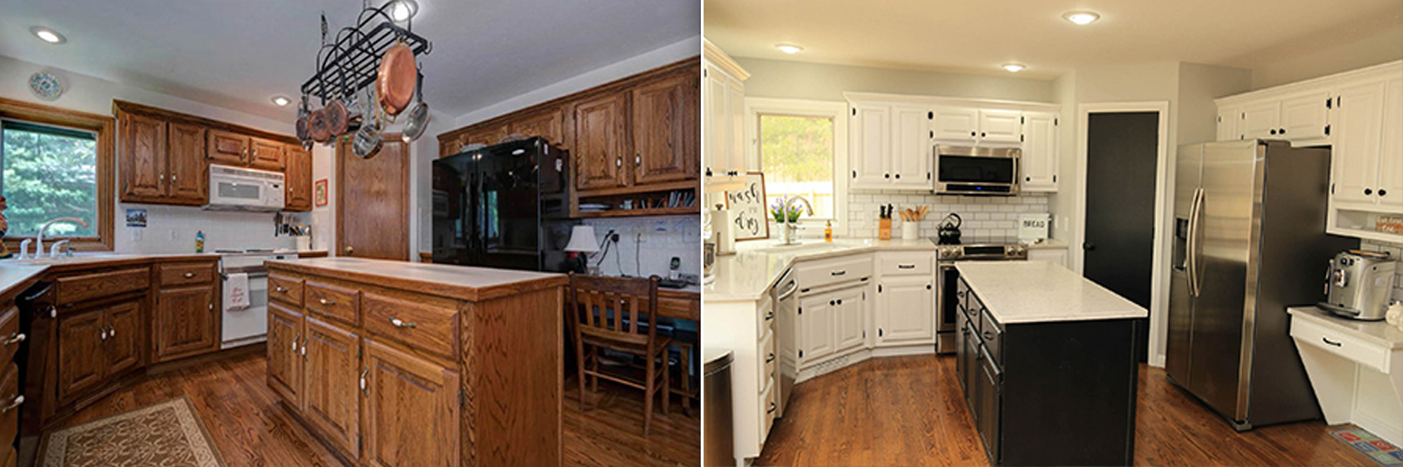 Kitchen Cabinets - Before & After