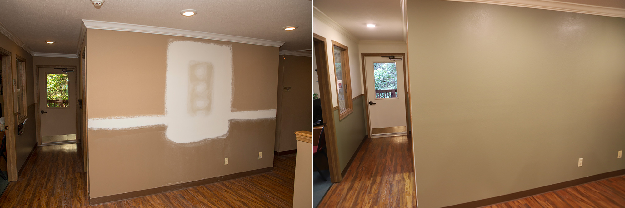Wall Repair - Before & After